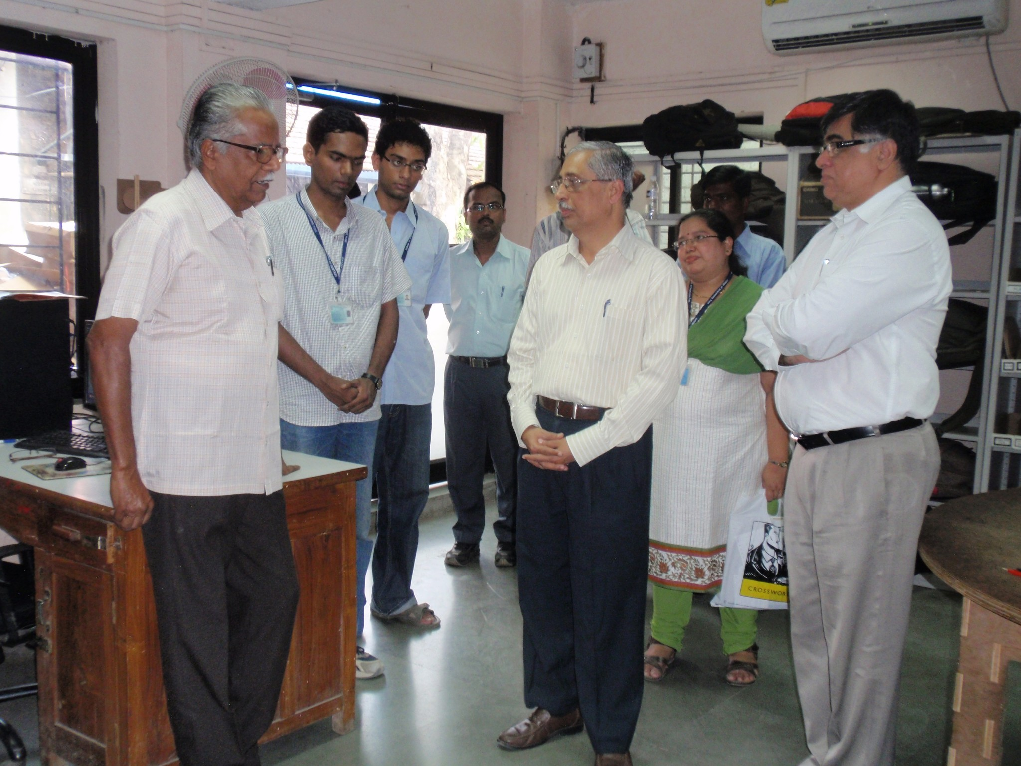 Director Sir and Swayam Team Interacting with Dr Vedachalam Sir